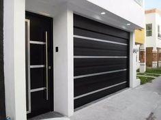 35 Trendy Ideas For Home Design Ideas Exterior Garage Main Gate Design, House Gate Design, Door Gate Design, House Front Design, Fence Design, Modern Garage Doors, Modern Door, Garage Door Design, House Entrance