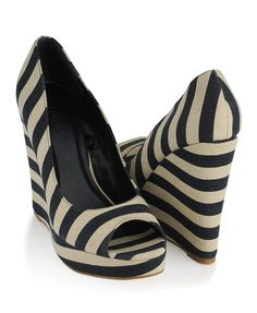 Shop for Striped Open Toe Wedges by Forever 21 at ShopStyle. Me Too Shoes, Big Shoes, Striped Wedges, Striped Shoes, Shoe Closet, Pumps, Heels, Beautiful Shoes, Flip Flops