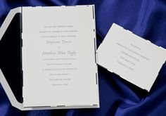 Silver Foil Border Wedding Invitation by An Elegant Affair