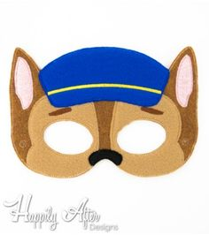 German Shepherd Police Dog Mask ITH Embroidery Design