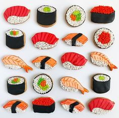 Sushi sugar cookies