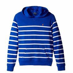NWT Ralph Lauren Polo Big Boys Striped French Terry Hoodie M 10 12 #PoloRalphLauren #Hoodie #DressyEverydayHoliday
