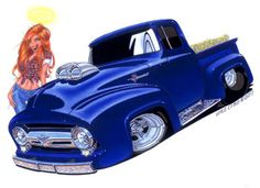 Muscle Car Cartoon Art | Cartoon Muscle Car Drawings Vince crain artwork