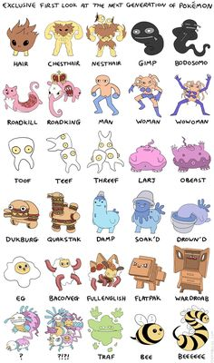 A Series of Ridiculous and Absurd New Pokémon