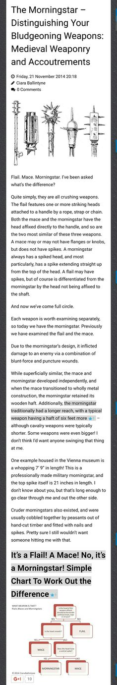 The Morningstar-Distinguishing Your Bludgeoning Weapons: Medieval Weaponry and Accoutrements