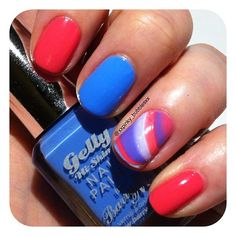 Barry M 'Blueberry' & 'Grapefruit' from their Gelly Hi-Shine Range. @xxpinky_bubblesxx