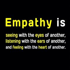 Empathy so important to develop as a child and youth. One of the reasons bullying and violence are prevalent.