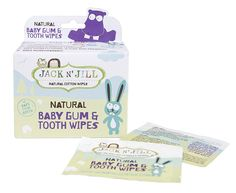 Jack N Jill Baby Gum and Tooth Wipes, White, 25 Pack