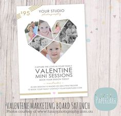 Valentine Marketing Board   Mini Sessions  by PaperLarkDesigns, $8.00 #valentine #valentinemarketingboard #photography2014 #valentineminisessions #template #photographerstemplate