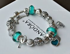 Pandora with pops of teal