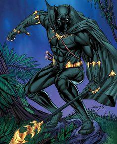 The Comic Ninja - Black Panther by Kevin McCoy Black Panther Movie 2018, Black Panther King, Black Panther Marvel, Marvel Comics Superheroes, Hq Marvel, Marvel Heroes, Marvel Cinematic, Superhero Poster, Superhero Design