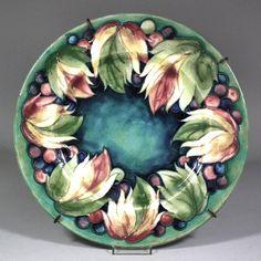 Moorcroft pottery plate, c 1930