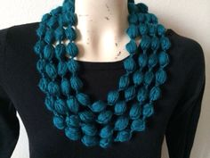 Bubble Loop Scarf Necklace In Off White Usa by zahraknitting