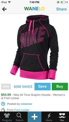 Nike women's pink hoodie