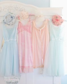 Sherbet Pastel Slip Dresses ~ Spring Dreaming Fine Art Photography Prints ~ Pink Ellie Photography