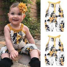 Ins new children's sleeveless printing one piece cute creeper 2020 quick sell baby one piece Baby Outfits Newborn, Baby Girl Newborn, Baby Baby, Baby Girls, Baby Girl Dresses, Baby Dress, One Piece Clothing, Pieces Clothing, Clothing Apparel