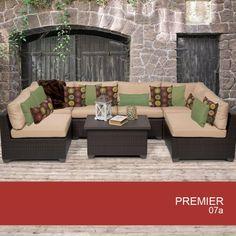 premier 7 piece outdoor wicker patio furniture set 07a 2 yr fade warranty tkc http amazoncom patio furniture