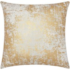 Mina Victory Luminescence Distressed Metallic Gold Throw Pillow by... ($29) ❤ liked on Polyvore featuring home, home decor, throw pillows, gold accent pillows, distressed home decor, gold home decor, metallic gold throw pillows and metallic throw pillows