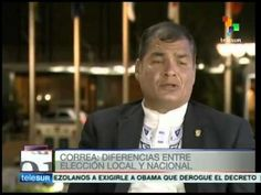 Acciones de Obama en América Latina son incoherentes: Correa