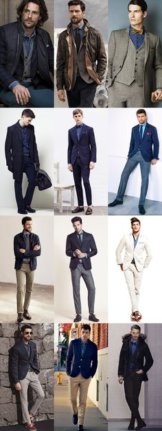 Men's Smart-Casual and Formal Denim Shirt Outfit Inspiration Lookbook