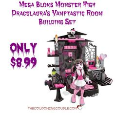 WOO HOO! What a fantastic gift idea! Check out the highly rated Mega Bloks Monster High Draculaura's Vamptastic Room Building Set for only $8.99!  Click the link below to get all of the details ► http://www.thecouponingcouple.com/mega-bloks-monster-high-draculauras-vamptastic-room-building-set-only-8-99/  #Coupons #Couponing #CouponCommunity  Visit us at http://www.thecouponingcouple.com for more great posts!