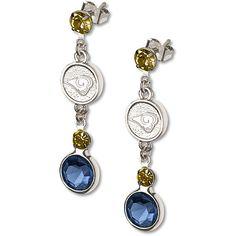 St. Louis Rams Crystal Earrings