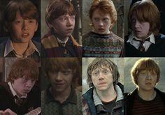 Harry Potter Evolution - Ron Weasley (Rupert Grint)