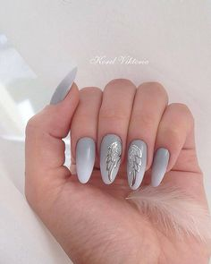 "#naildesign #nailart wingsnailart #graynailart Маникюр. Дизайн ногтей. МК (@ru_nails_master) on Instagram: ""Мастер @korelviktoria Нравится работа? Ставь #ru_nails_master #дизайнногтей #ноготки #маникюр…"""