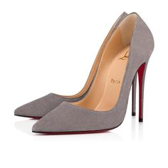 Christian Louboutin United States Official Online Boutique - So Kate 120 Shadow Suede available online. Discover more Women Shoes by Christian Louboutin Stilettos, Pumps Heels, Stiletto Heels, Flats, Suede Pumps, High Heels, Grey Heels, Louboutin Online, Louboutin Shoes