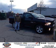 #HappyAnniversary to Glenn Barnes on your 2014 #Ram #1500 from David Jones at Huffines Chrysler Jeep Dodge Ram Lewisville!