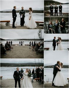 This beautiful mountain wedding at Pyamid Lake Resort in Jasper was adventurous, and real. The overcast mountain weather helped give this wedding a moody vibe. To see more of this Jasper wedding visit Teller of Tales Photography. Fall Wedding, Wedding Ceremony, Our Wedding, Wedding Ideas, Lake Resort, Best Photographers, Photo Look, Engagement Shoots, Jasper