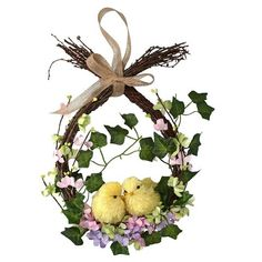 13 gorgeous Easter wreaths to buy right now 13 gorgeous Easter wreaths to buy right now,Anleitung Basteleien Frühling&Ostern Gisela Graham Twig Easter Wreath With Chicks and Flowers Related of the Best Farmhouse Spring. Easter Flower Arrangements, Easter Flowers, Easter Tree, Diy Spring Wreath, Spring Crafts, Wreath Crafts, Diy Wreath, Easter Wreaths, Christmas Wreaths