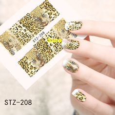 1pcs Sexy Leopard Water Transfer Nail Art Stickers Beauty Manicure Foils Decal Decorations DIY STZ208 #clothing,#shoes,#jewelry,#women,#men,#hats,#watches,#belts,#fashion,#style