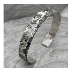 Wide silver cuff bracelet MILKY WAY.Unusual unique | Etsy
