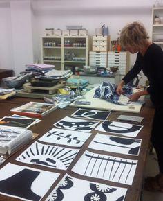 How Lotta designs her textiles...Ledger : Lotta Jansdotter