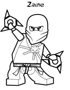 Lego Zane Ninjago Coloring Page