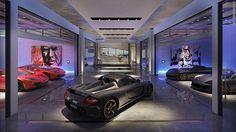 What do y'all think of that 'Luxury Car Condo' planned for Overtown? Garage Design, House Design, Garage Door Handles, Modern Villa Design, Dream Car Garage, Modern Garage, Miami, Architect Design, Architecture