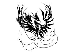 pictures of tribal phoenix bird | Phoenix of fire tattoo wallpaper