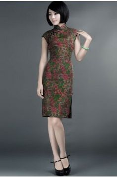 SILK VINTAGE STYLE TRADITIONAL CHEONGSAM DRESS $398    #dress #gradient #elegance #cheongsam