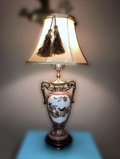 Chinese porcelain vase lamp porcelain floral table lamp by chinoiserie lamp oriental porcelain vase lamp with gold handles mozeypictures Image collections
