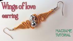 Macrame tutorial: Earring wings of love pattern - step by step guide