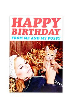 Carte d'anniversaire petit chat - Urban Outfitters (4€)
