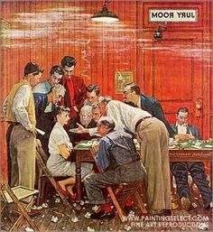 Norman Rockwell. Jury Room