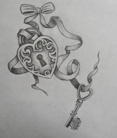 Key To My Heart Tattoos | Key Tattoo Designs