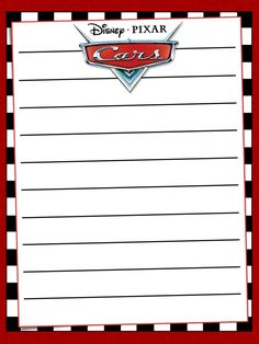 "Cars - Project Life Journal Card - Scrapbooking ~~~~~~~~~ Size: 3x4"" @ 300 dpi. This card is **Personal use only - NOT for sale/resale** Logo/clipart belong to Disney/Pixar. *** Click through to photobucket for more versions of this card ***"