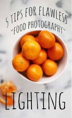 5 Tips for getting great food photography lighting. #togally #food #photography