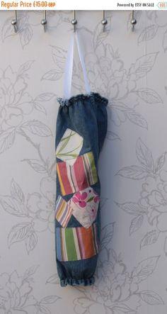 ON SALE Patchwork Denim Bag Organiser by LookingGlassDesigns1
