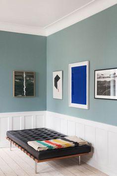F&B Oval room blue Living Room Inspiration, Interior Inspiration, Oval Room Blue, Colour Architecture, Retro Home, Blue Walls, Minimalist Home, Cheap Home Decor, Vintage Home Decor