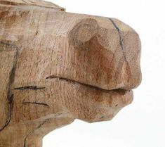 The top lip of a horse is much more pointed than the bottom lip and has two soft. The top lip of a horse is much more pointed than the bottom lip and has two soft Wood Carving Patterns, Carving Designs, Woodworking Techniques, Woodworking Crafts, Woodworking Videos, Teds Woodworking, Whittling Wood, Art Carved, Horse Sculpture