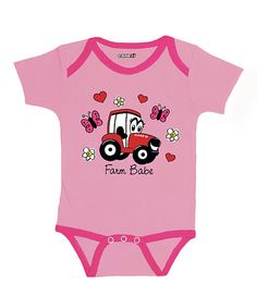 Another great find on #zulily! Pink & Fuchsia 'Farm Babe' Bodysuit - Infant by International Harvester #zulilyfinds